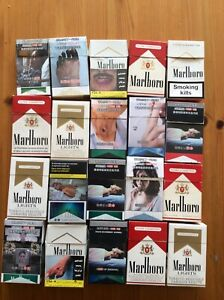 20 ASSSORTED MARLBORO CIGARETTE PACKS VARIOUS COUNTRIES EMPTY