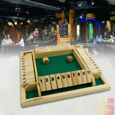 New Shut the Box Game Wooden Board Number Drinking Dice Toy Family Traditional