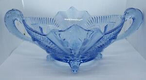 Brockwitz Art Deco Blue Glass Bowl