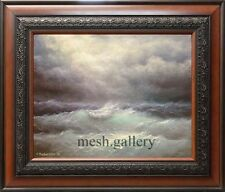 "11""x14"" ORIGINAL FRAMED OIL PAINTING SEASCAPE Hurricane Isaac Art by Mesheryakov"