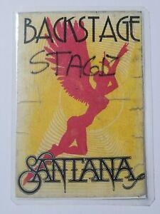 VINTAGE LAMINATED SANTANA BACKSTAGE PASS 3.25'' X 5.25''