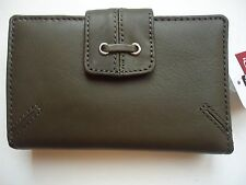 Ladies Mundi Lace Cardex Genuine Leather Wallet, Olive