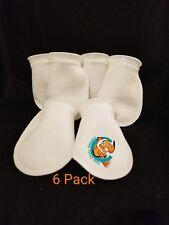 "Six (6) 4"" Filter Socks 4"" x 8"" Felt 200 Micron sock Aquarium Reef Wet Dry Sump"