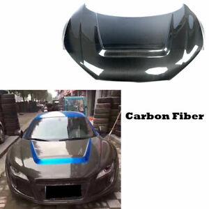 For Audi R8 V8 V10 2007-2015 Auto Front Engine Bonnet Hood Cover Carbon Fiber