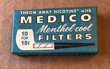 Vintage 1960s NOS Medico Menthol Pipe Filters