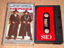 JOHNNY CASH & WAYLON JENNINGS - Heroes - cassette tape album