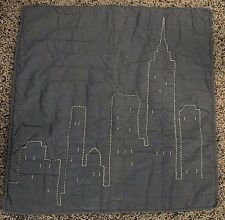 Pottery Barn Kids BATMAN Gotham city scape Quilt ed Euro sham