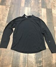 Under Armour Boys Black Shirt Ymd Medium M Logo Long Sleeve
