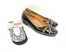 Sofft Loafers Women's Sz 8 Med Black Patent Leather 2 Pair of Peds 5-10 (tu1ep)