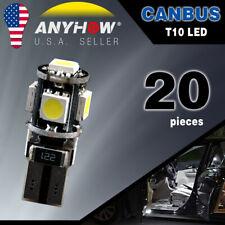 20x White T10 Wedge Canbus ERROR FREE 5050 5SMD Car LED Light bulbs W5W 194 168