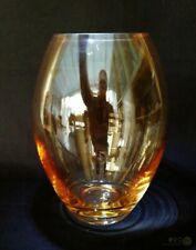 Medium Peach Tinted Glass Ovoid Vase 18.5cm | FREE Delivery UK*