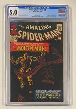 AMAZING SPIDER-MAN #28 Marvel 1965 CGC 5.0 Molten Man Origin & 1st Appearance