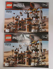 2 Complete INSTRUCTION MANUALS ONLY for Lego 7573 Prince of Persia Both Books