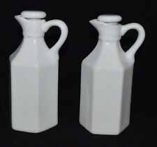 (2) Xcell Small Milk Glass Oil Pitcher/Jugs