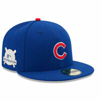 Chicago Cubs New Era Royal 2017 Postseason Side Patch 59FIFTY Fitted Hat NWT