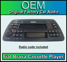 Fiat Brava cassette player, Fiat Brava car stereo with radio code & removal keys