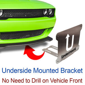 UNDER MOUNT LICENSE PLATE BRACKET tag frame mounting holder no drill  front Dod