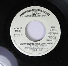 Pop Promo 45 Richard Harris - I Wonder What The King Is Doing Toniight / How To