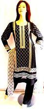 Shalwar kameez black eid pakistani designer salwar sari abaya hijab suit uk 16