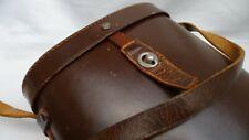 Dark Brown Leather Binoculars Binocular Case Lined with Leather Shoulder Strap