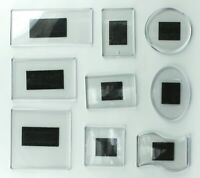 9Pcs SUPER SET blank fridge magnet for your printing or drawing insert acrylic