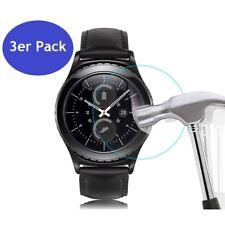 3x Samsung Galaxy Gear S3 Panzerglas Schutzfolie 9H Hart Glas Displayschutz Uhr