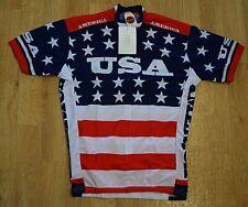 NEW Team USA 1979 Retro Cycling Men's Jersey World Jerseys  Red/White/Blue LG