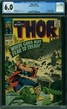 Thor 132 CGC 6.0 -- 1966 -- 1st app Ego in Cameo. Jack Kirby.  #2001879013