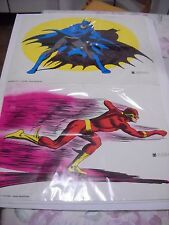 SERIE CMPL 6 POSTER MANIFESTI WILLIAMS BATMAN SUPERMAN FLASH LANTERNA VERDE 1972