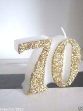 Kerze zum 70.Geburtstag Dekoration /Geschenk zum 70.Geburtstag
