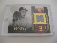 Johnny Podres Brooklyn Dodgers Historic Swatches 2004 Upper Deck Baseball Card