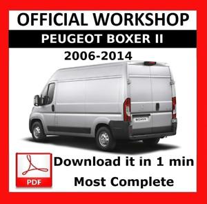 OFFICIAL WORKSHOP Manual Service Repair Peugeot Boxer II 2006 - 2014