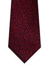 John Ashford tie men necktie red black Mini Swirl new