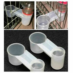 10x Pet Bird Feeder Drinker Cup Water Bottle For Chicken Poultry Dove Pigeon