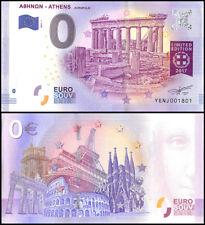 Zero (0) Euro Europe, 2017 - 1 (1st Print), UNC, Aropolis Athens in Greece