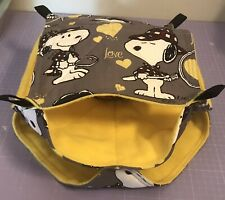New Triple Decker Quilted Hammock For Rats+small Animals. SNOOPY + YELLOW FLEECE