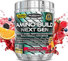 MuscleTech Amino Build Next Gen, Fruit Punch, 30 Servings, BB 07/25/2020