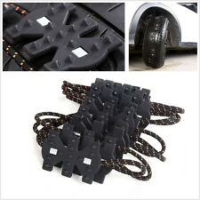 4 Pcs Car SUV Wheel Tire Widened Anti-skid Chain Belt Fit Tire Width 6.50-11.22""