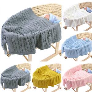 Newborn Toddler Infant Baby Soft Swaddle Blanket Sleeping Swaddle knitting Wrap