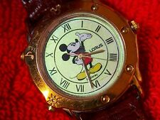 MICKEY MOUSE LORUS WATCH FACE LIGHTS UP MELODY SMALL WORLD ROMAN NUMERAL DIAL