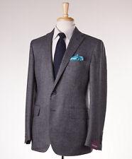 NWT $3295 SARTORIA PARTENOPEA Gray Patterned Wool-Cashmere Sport Coat Slim 38 R