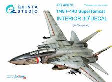 Quinta Studio QD48070 1/48 F-14D Tomcat Interior Set w/free shipping