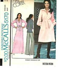 Vintage 1970s McCall's Sewing Pattern TOP SHORT OR MAXI DRESS 5170 Sz 18 UNCUT