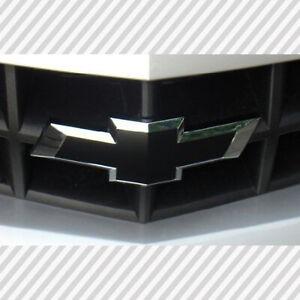 2 Matte Black Universal Chevy Silverado Bowtie Vinyl Sheets Emblem Overlay★★★★★