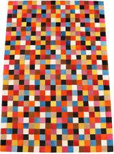 pelo di mucca Tappeto patchwork colorato 150 x 100 cm pelle Multicolore