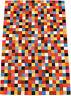 Tapis en cuir de vache patchwork multicolore 150 x 100 cm peau