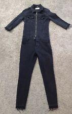 DL1961 Jumpsuit Size XSmall Faded Black Winnie Catsuit Skinny Denim Jean HH