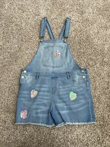 Justice Light Wash  Jean  Shortfalls  size 20 Plus With Heart Sequins NWT