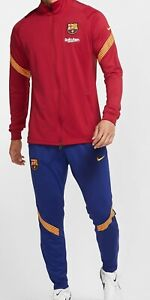 NEW NIKE FC BARCELONA TRACKSUIT JACKET PANTS TRAINING 2020 2021 MESSI FOOTBALL
