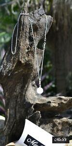 Handmade necklace / pendant with Sterling Silver, Rose Quartz & Glass Beads.